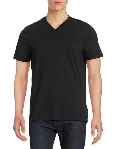 Michael Kors Sleek V-Neck T-Shirt-BLACK-Small