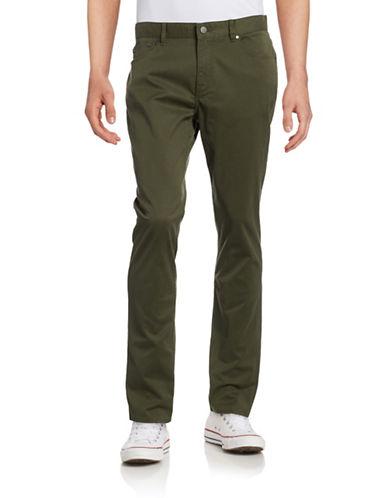 Michael Kors Slim Five-Pocket Pants-FATIGUE-36X32