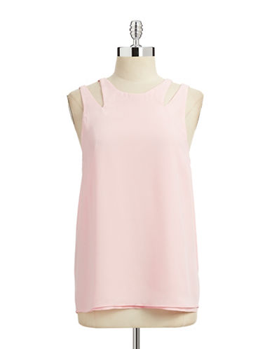 Sam Edelman Cutout Swing Tank Top-PINK-Medium