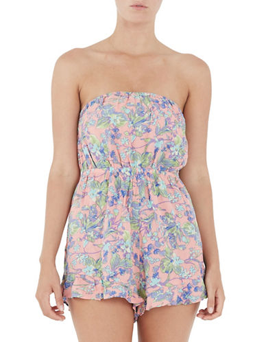 Minkpink Strapless Frill Hem Playsuit-PINK-Medium