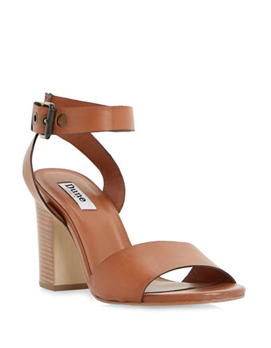Dune London Jalexa Ankle Strap Leather Sandals-TAN-EUR 39/US 9