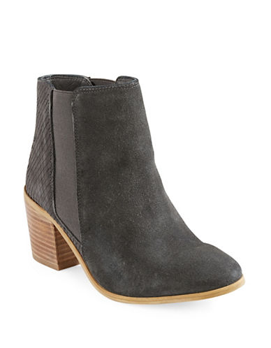 Dune London Peonie Leather Low Chelsea Boots-GREY-EUR 39/US 9