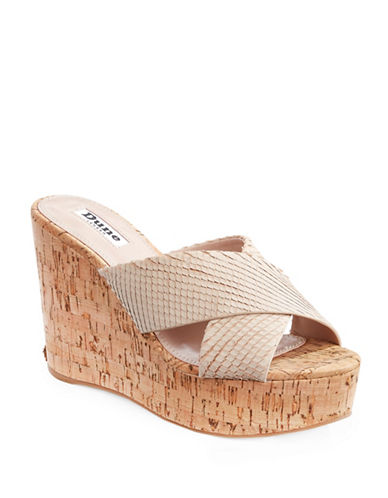 Dune London Karmen Leather Platform Sandals-NATURAL-EUR 40/US 10