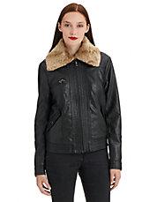 FREE PEOPLEVegan Leather Aviator Jacket