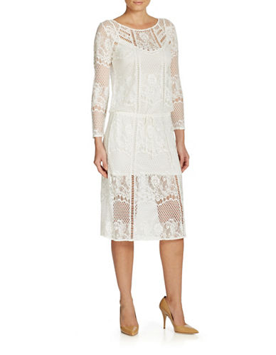 Free People Luna Lace Dress-IVORY-Small  AT vintagedancer.com