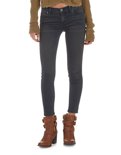 Free People Roller Crop Skinny Jeans-BLACK-28
