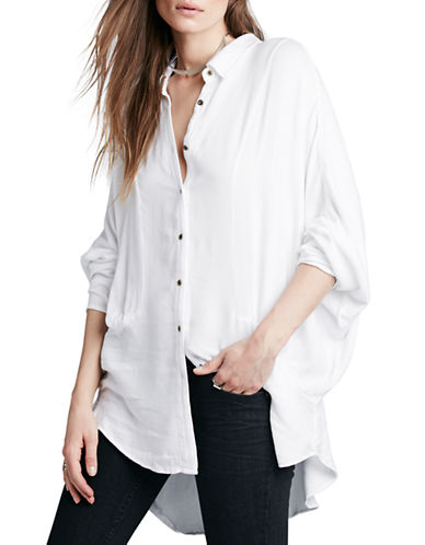 6edcd4124a434a ... UPC 888374315209 product image for Free People Drapey Button-Down Blouse -NATURAL-Small