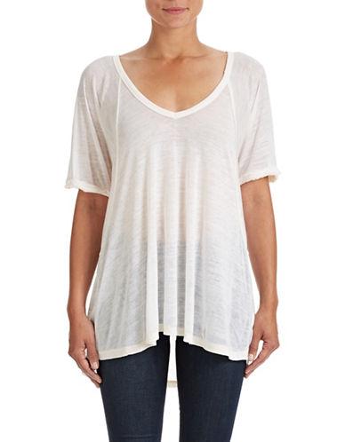 Free People Free Fallin' V-Neck T-Shirt-WHITE-X-Small 87689039_WHITE_X-Small