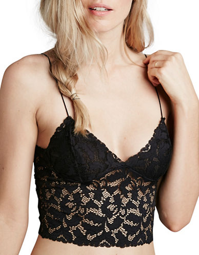 Free People Lacey Lace Cami-BLACK-Medium
