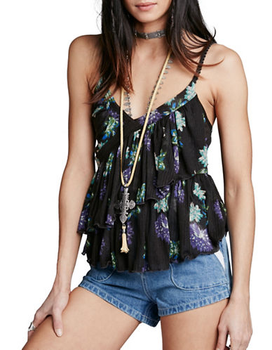 Free People Melbourne Printed Tank-BLACK-X-Small 88482459_BLACK_X-Small