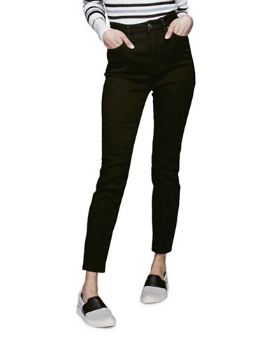 Free People Cyndi Black High-Rise Skinny Jeans-BLACK-27