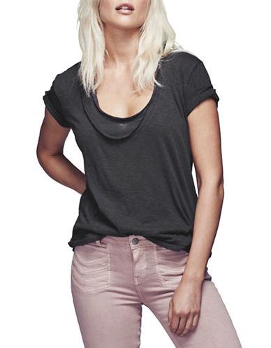 Free People Phoebe Tee-BLACK-X-Small 88572446_BLACK_X-Small