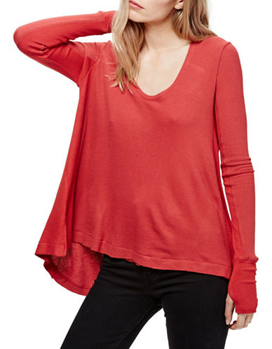Free People Malibu Thermal Top-RED-Medium 88771641_RED_Medium