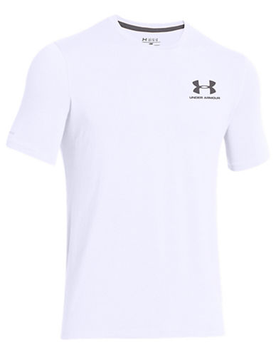 Under Armour Loose Fit HeatGear T-Shirt-WHITE-Large