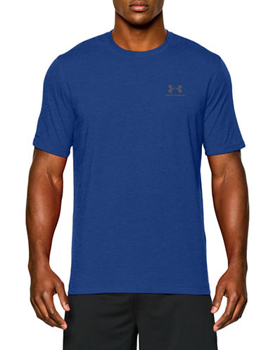 Under Armour Sportstyle Short-Sleeve T-Shirt-BLUE-Large