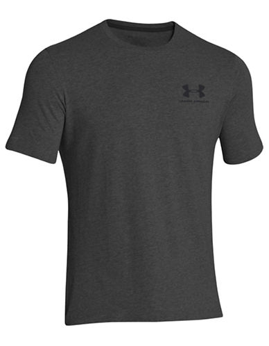 Under Armour Loose Fit HeatGear T-Shirt-GREY-Small