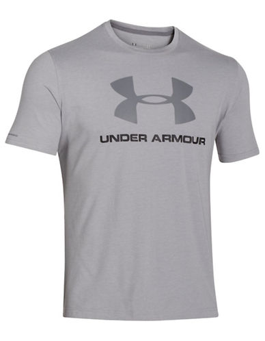 Under Armour Sportstyle Logo T-Shirt-TRUE GREY-XX-Large 87682243_TRUE GREY_XX-Large