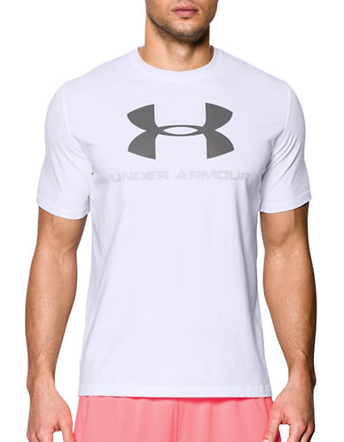 Under Armour Sportstyle Logo Cotton T-Shirt-WHITE-Large