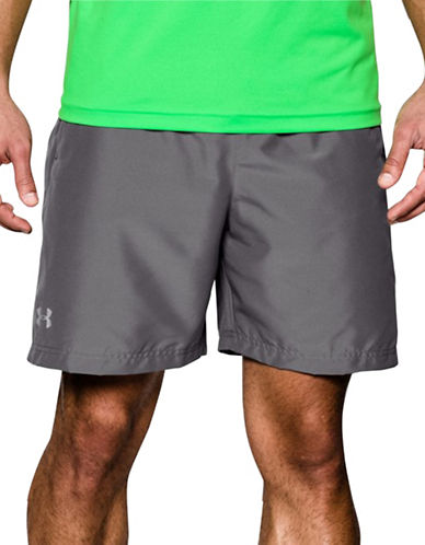 Under Armour Launch Reflective Run Shorts-GRAPHITE-Large