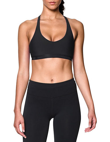 Under Armour Low-Compression Sports Bra-BLACK-Large 88186857_BLACK_Large