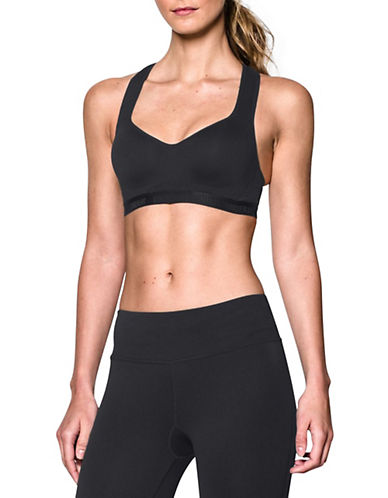 Under Armour High-Compression Racerback Sports Bra-BLACK-38C 88186851_BLACK_38C