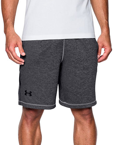 Under Armour Raid Printed Shorts-STEEL-Large