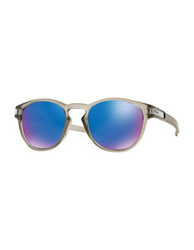 Oakley Latch Round Sunglasses-GREY/BLUE-One Size