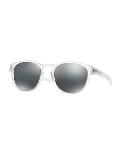 Oakley Latch Round Sunglasses-CLEAR-One Size