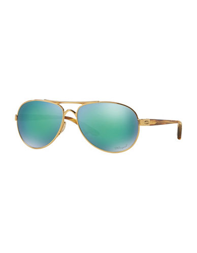 Oakley Tie Breaker 56mm Aviator Sunglasses-GREEN-56 mm