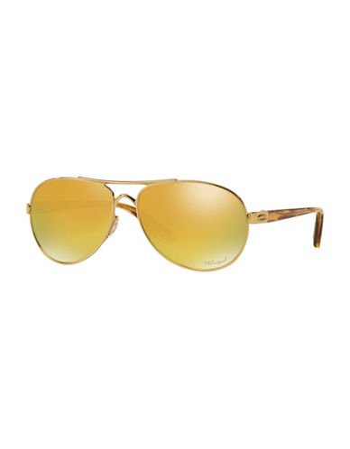 Oakley Tie Breaker 56mm Aviator Sunglasses-GOLD-56 mm