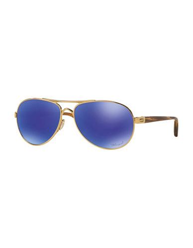 Oakley Tie Breaker 56mm Aviator Sunglasses-BLUE-56 mm