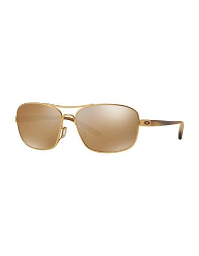 Oakley Santuary 58mm Aviator Sunglasses-GOLD-58 mm