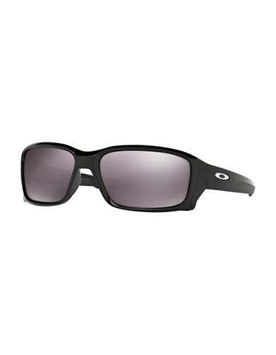 Oakley Straightlink 58mm Wrap Sunglasses-BLACK-One Size