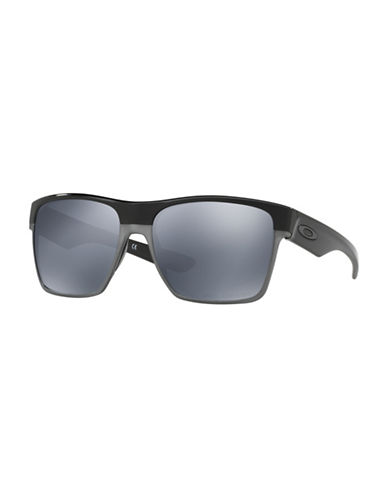 Oakley Two-Face Polarized 59mm Square Sunglasses-BLACK-One Size