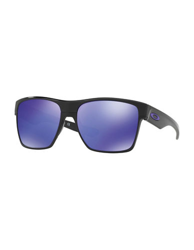 Oakley Two-Face Polarized 59mm Square Sunglasses-BLUE-One Size