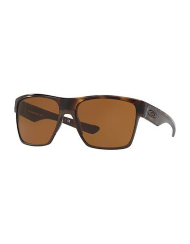 Oakley Two-Face Polarized 59mm Square Sunglasses-BROWN-One Size