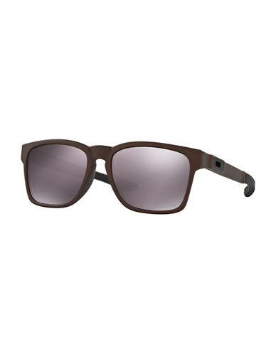 Oakley Catalyst Corten 55MM Square Sunglasses-GREY-One Size