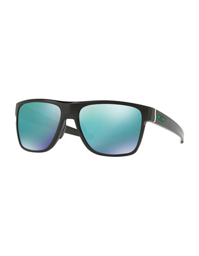 Oakley Crossrange XL 58MM Square Sunglasses-BLACK-One Size
