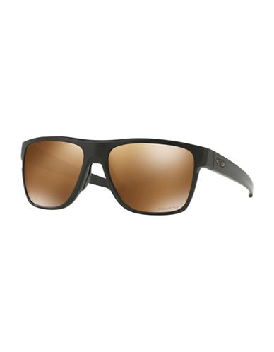 Oakley Crossrange XL 58MM Straight-Temple Square Sunglasses-BLACK-One Size