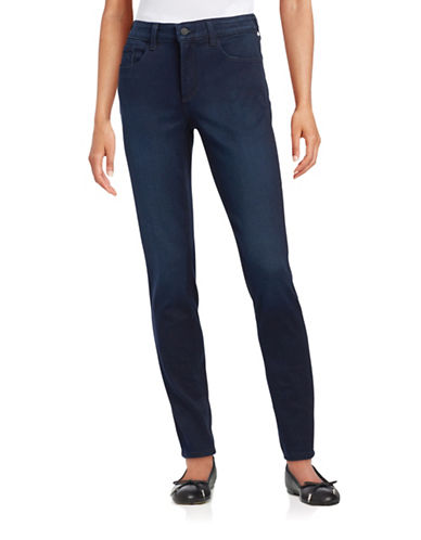 Nydj Stretch Lift and Tuck Jeggings-BLUE-2