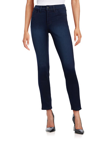 Nydj Petite Stretchy Lift and Tuck Jeggings-BLUE-Petite 10