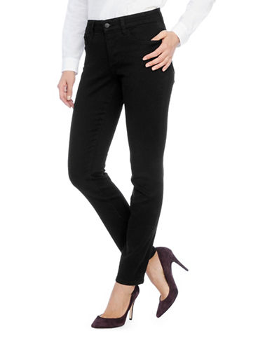 Nydj Petite Super-Sculpt Denim Leggings-BLACK-Petite 0