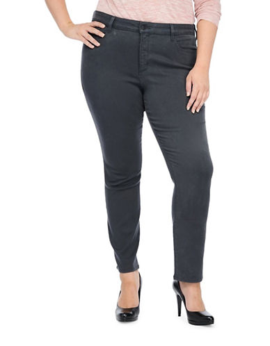 Nydj Plus Plus Jade Denim Leggings-GREY-14W plus size,  plus size fashion plus size appare