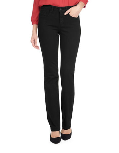Nydj Marilyn Straight-Leg Jeans-BLACK-6