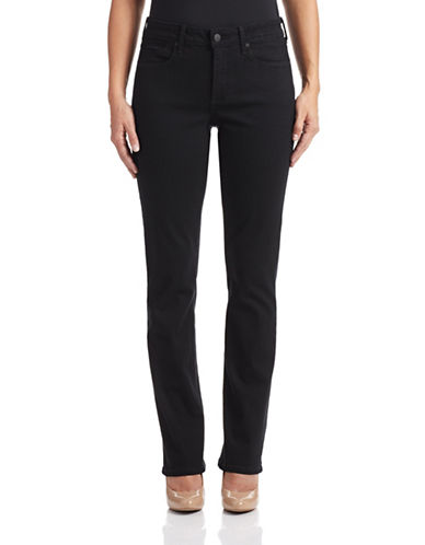 Nydj Billie Mini Bootcut Stretch Jeans-BLACK-6