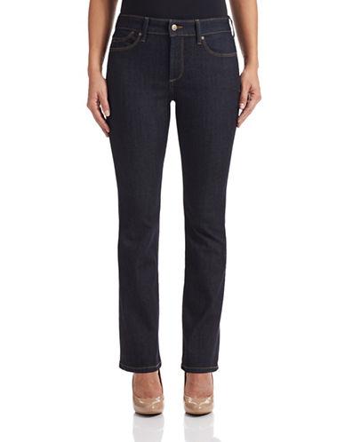 Nydj Petite Billie Mini Bootcut Stretch Jeans-BLUE-Petite 12