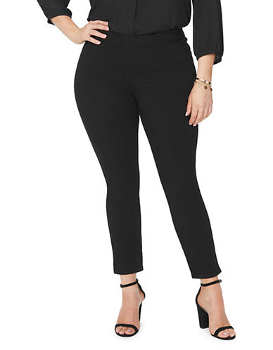 Nydj Plus Pull-On Ankle Pants-BLACK-16W