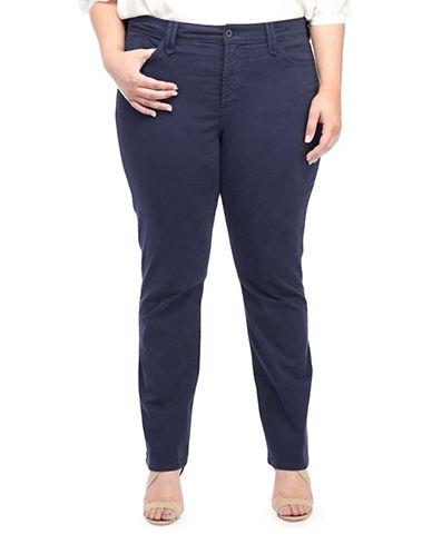 Nydj Plus Plus Hayden Straight Jeans-BLUE-14W