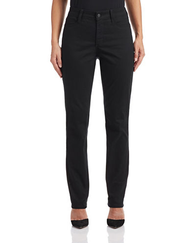 Nydj Sheri Slim-Fit Pants-BLACK-4