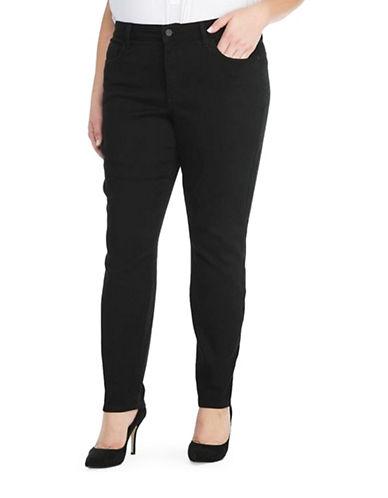 Nydj Plus Plus Denim Sculpting Leggings-BLACK-14W plus size,  plus size fashion plus size appare